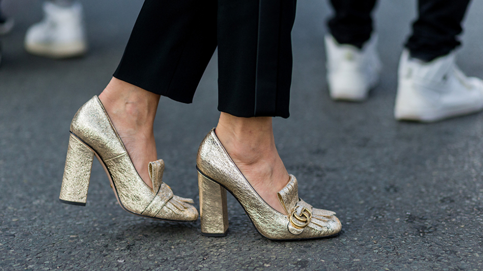 gucci-metallic-gold-loafers