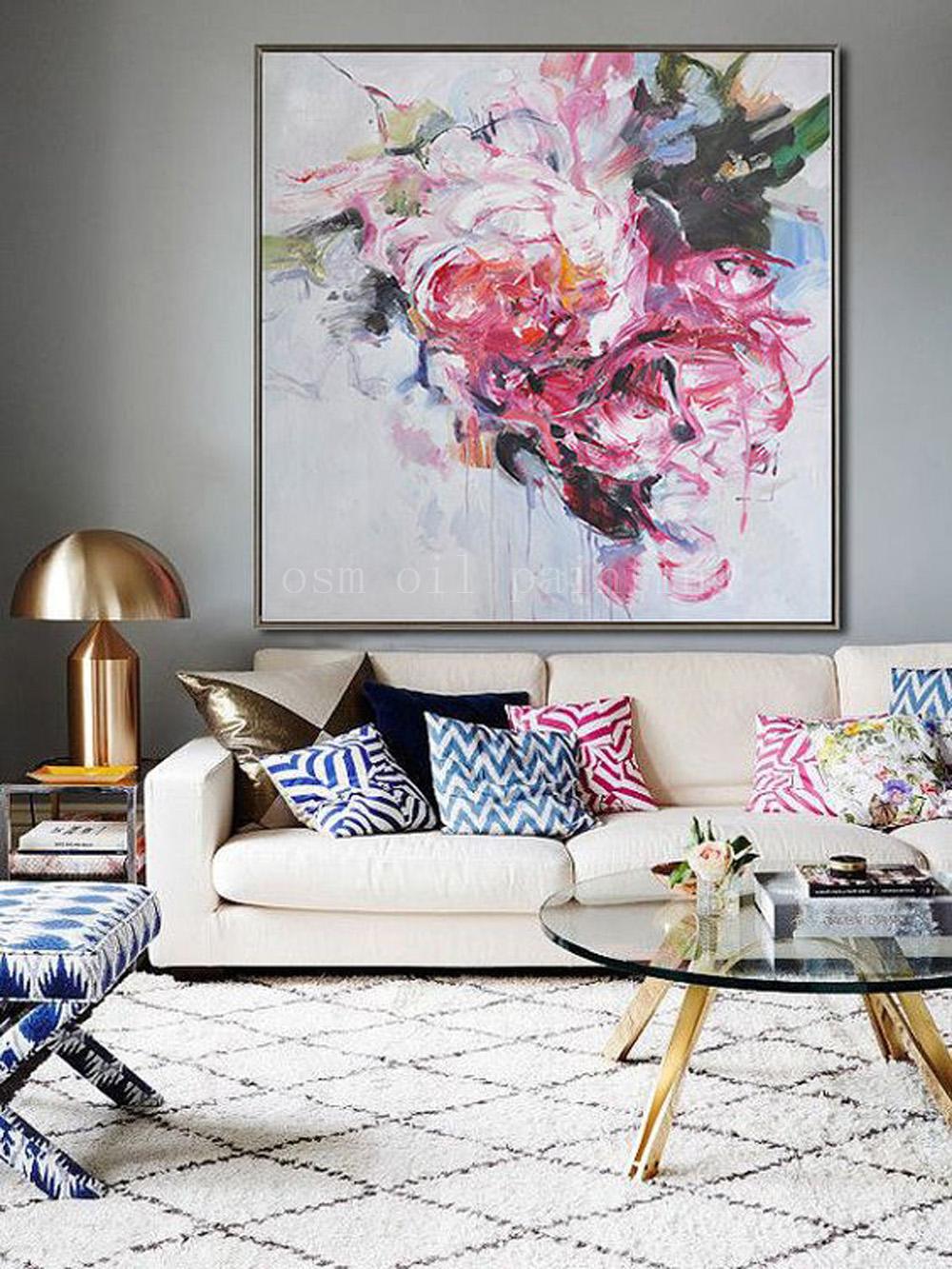 100-Tangan-Dicat-Abstrak-Colorful-Flower-Oil-Painting-On-Canvas-Handmade-Wall-Art-Impresionis-Landscape-Dekoratif