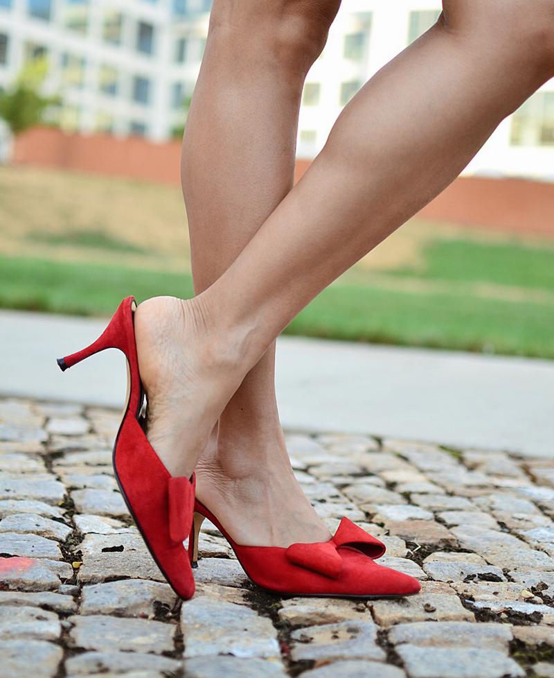 Kitten heels street style