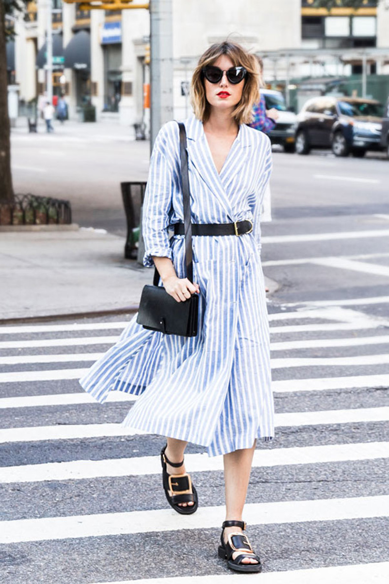 15-Street-Style-Looks-That-Will-Urge-You-to-Wear-a-Shirtdress-4