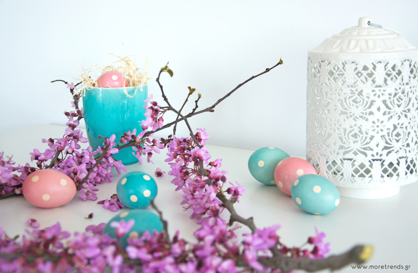 polka dots easter eggs