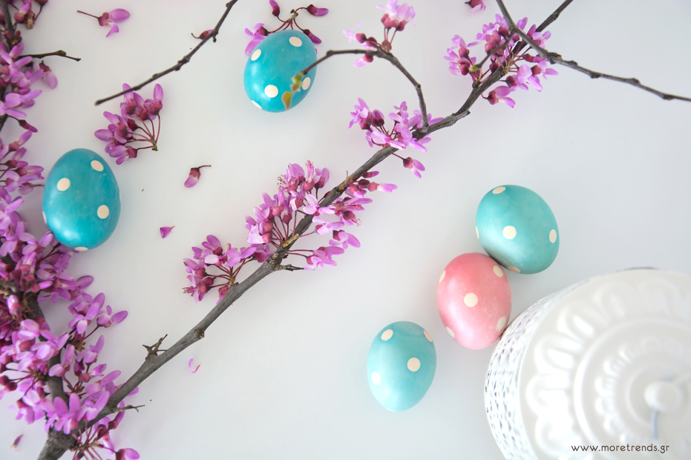 polka dots easter eggs 3
