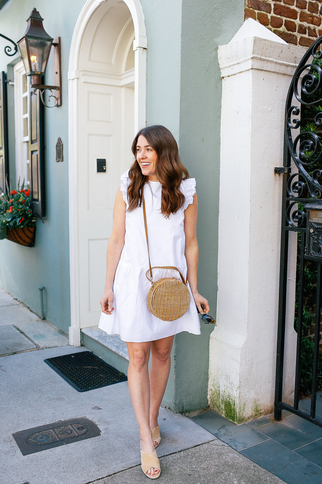 anthropologie-white-dress-serpui-wicker-bag-and-sigerson-morrison-slides-4-of-7