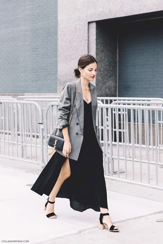 New_York_Fashion_Week-Spring_Summer-2016-Street-Style-Maria_Dueñas_Jacobs-Grey_Blazer-Long_Dress-Saint_Laurent_Bag-2-790x1185-2