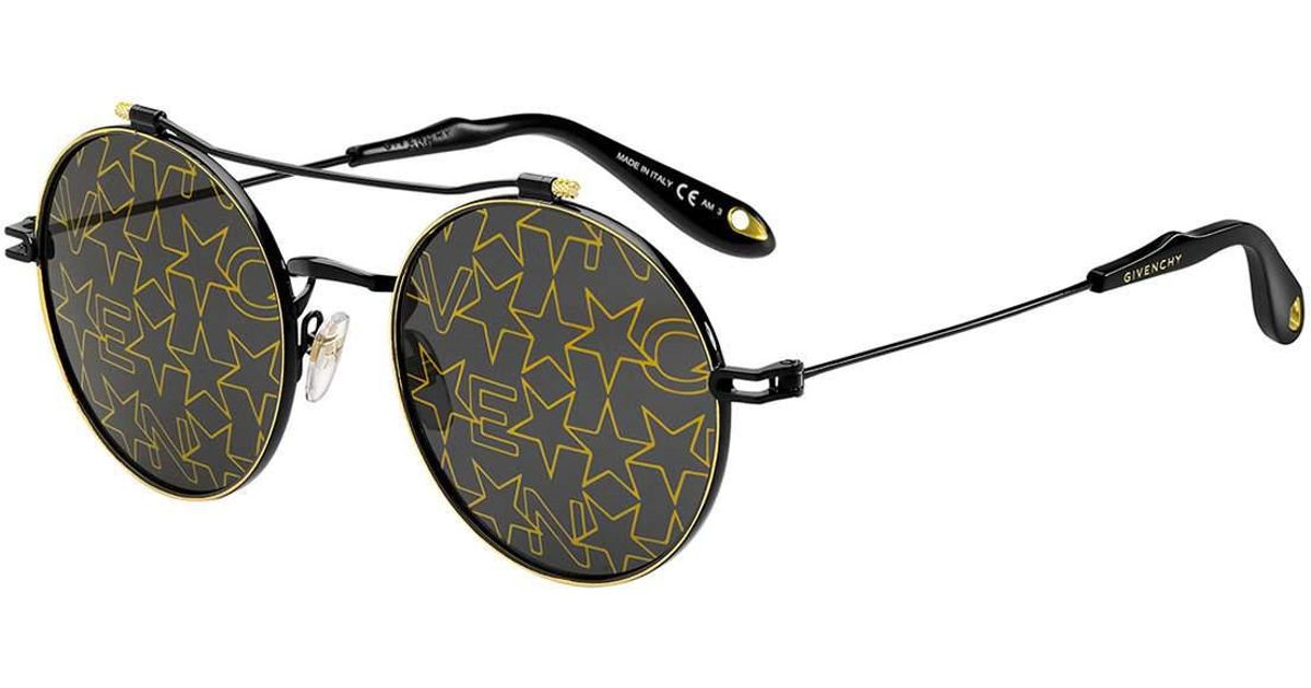 givenchy-BLACK-PATTERN-Logo-Star-Printed-Round-Sunglasses