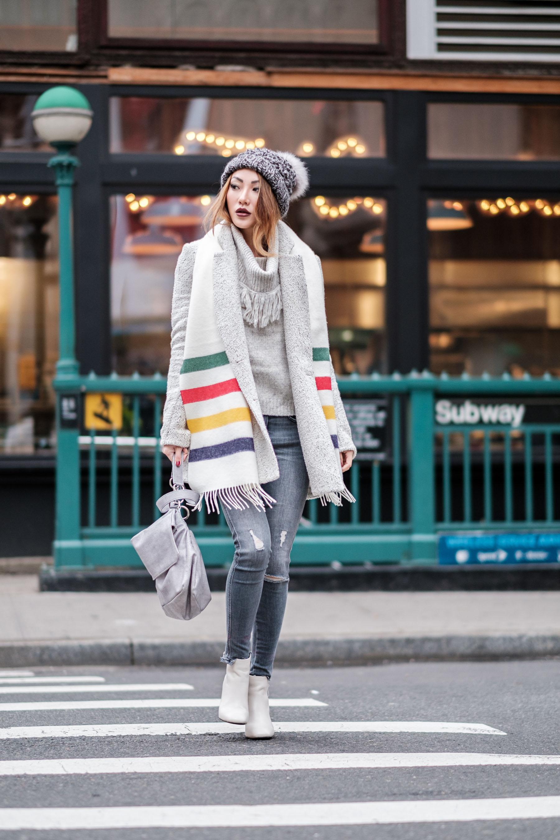 monochrome-gray-outfit-stripe-fringe-scarf-cowl-neck-sweater-gray-denim-white-boots-notjessfashion-900x1350@2x