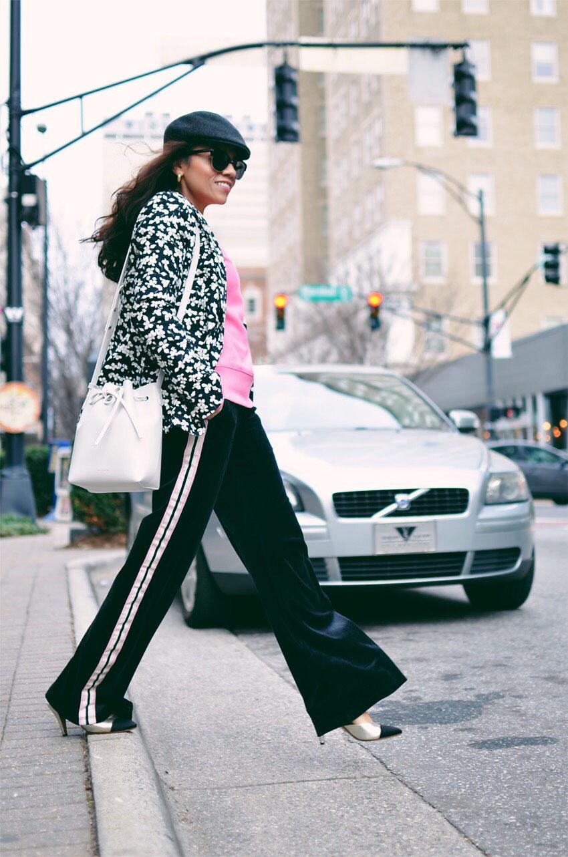 Track pants street style 1