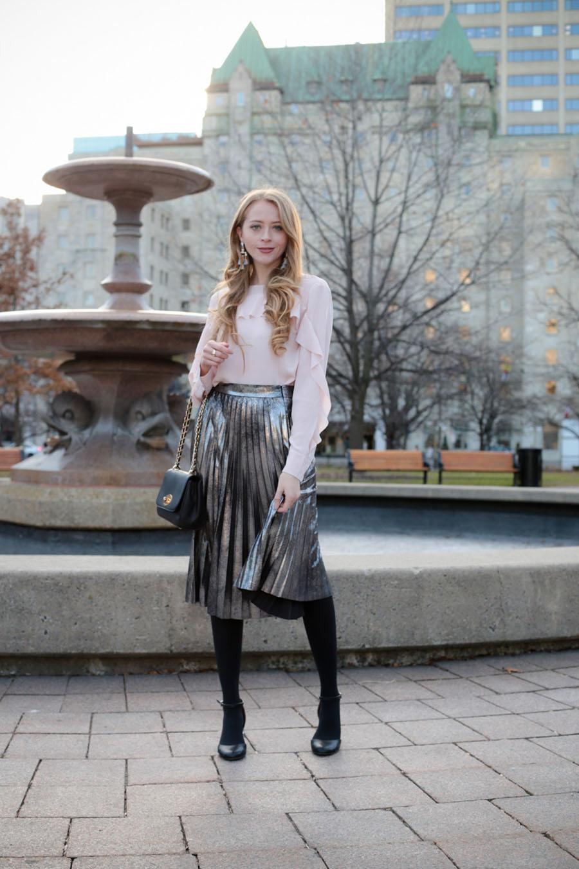 pleated -skirt