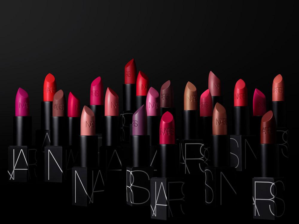 NARS Iconic Lipstick Group Stylized Image (Black Packaging)
