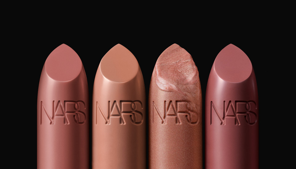 NARS Iconic Lipstick Group Stylized Image (Nudes)