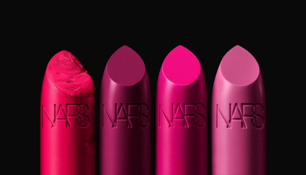 NARS Iconic Lipstick Group Stylized Image (Pinks)
