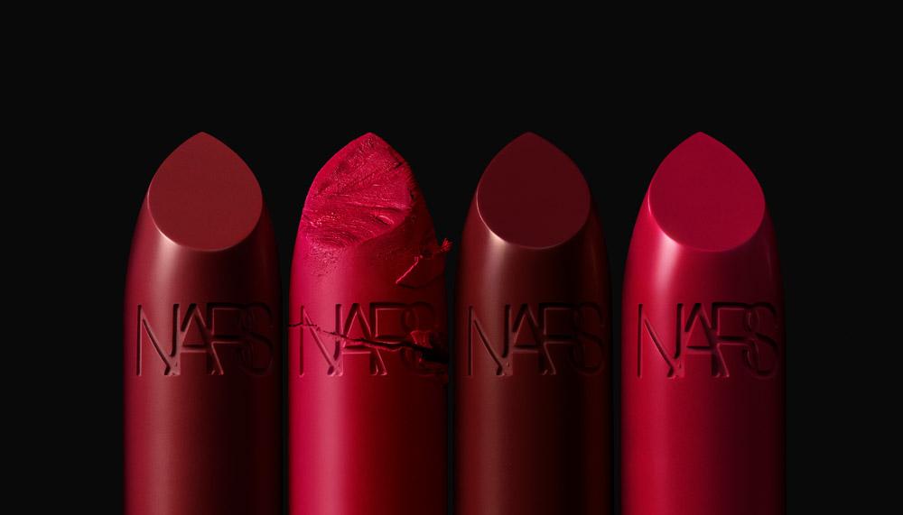 NARS Iconic Lipstick Group Stylized Image (Reds)