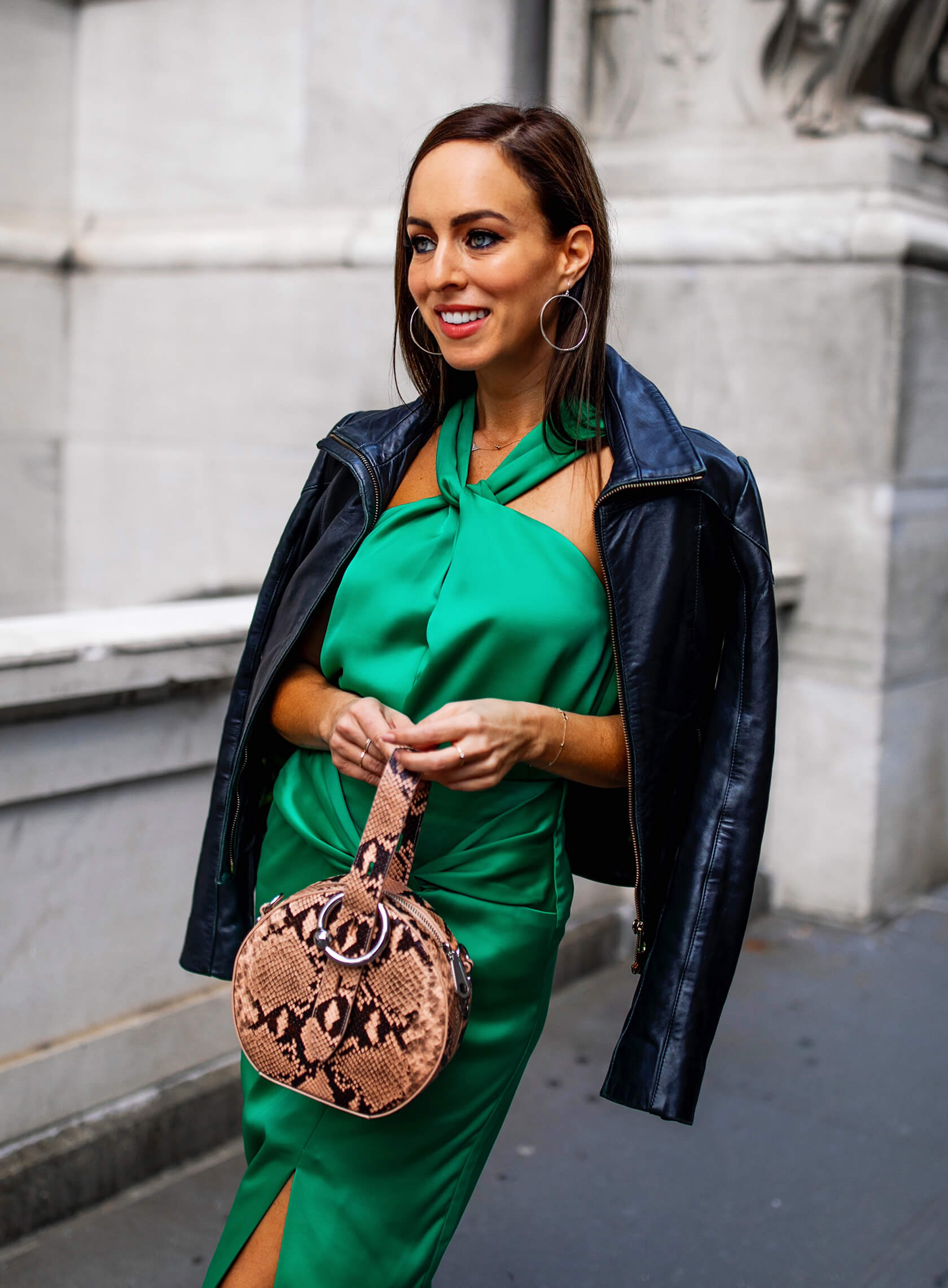 Sydne-Style-shows-new-york-fashion-week-street-style-trends-in-leather-jacket-and-snakeskin