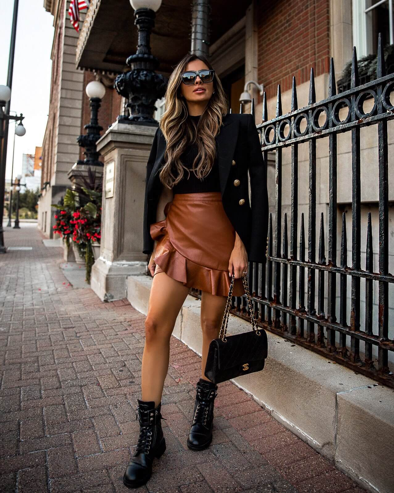 Mia-Mia-Mine-Cognac-Skirt-Balmain-Blazer