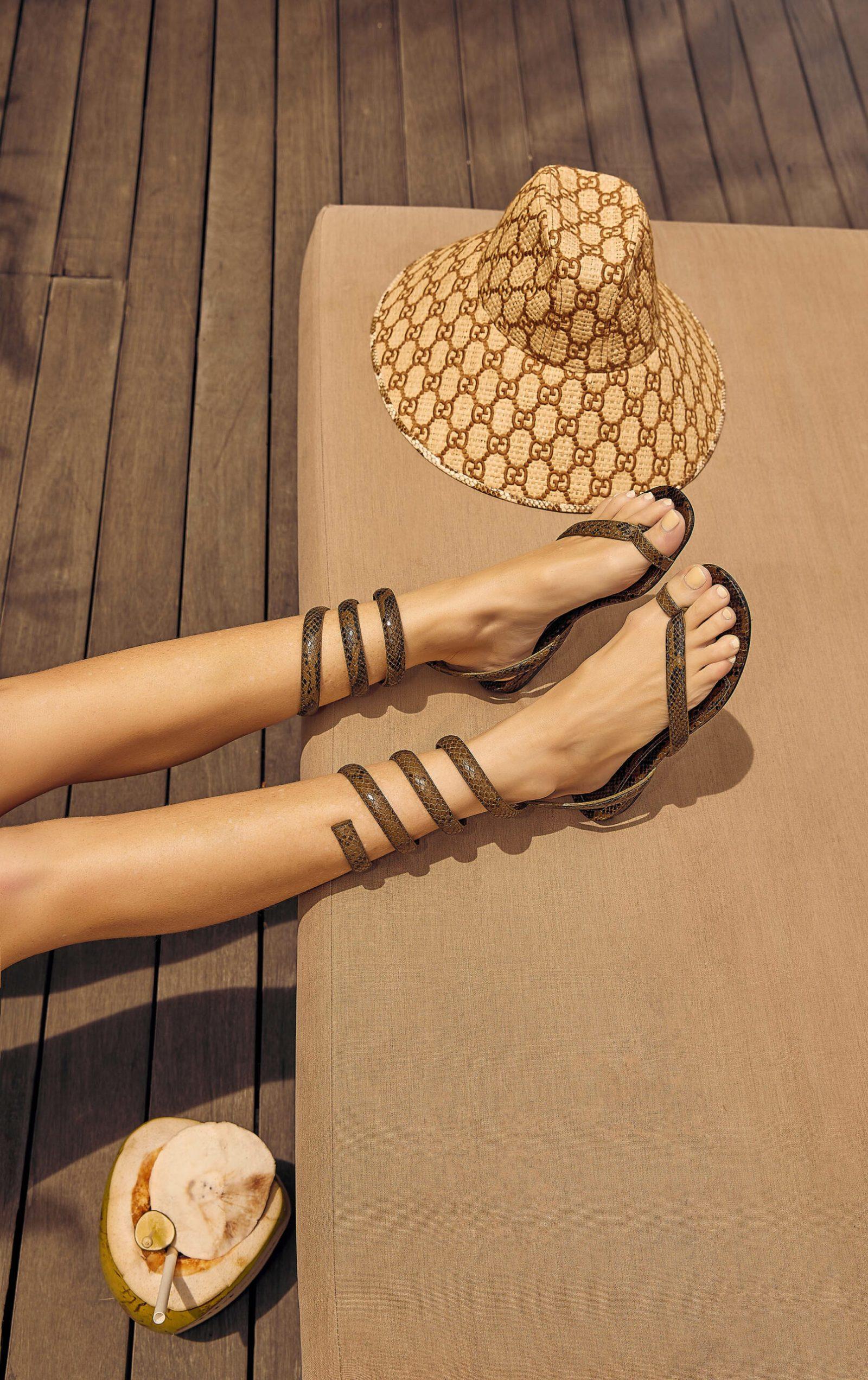 Gucci-Straw-Hat-Bottega-Veneta-Wrap-Sandals-Amanda-Shadforth-scaled