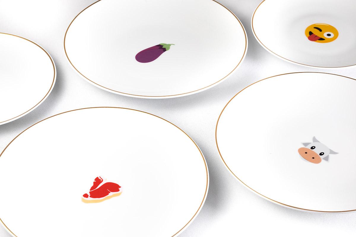 Emoji plates 1 - Adrien Daste