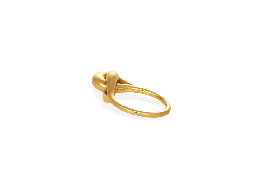 Christina Soubli_Gold plated 925 silver charm 21 knot ring CHr 21 (3)