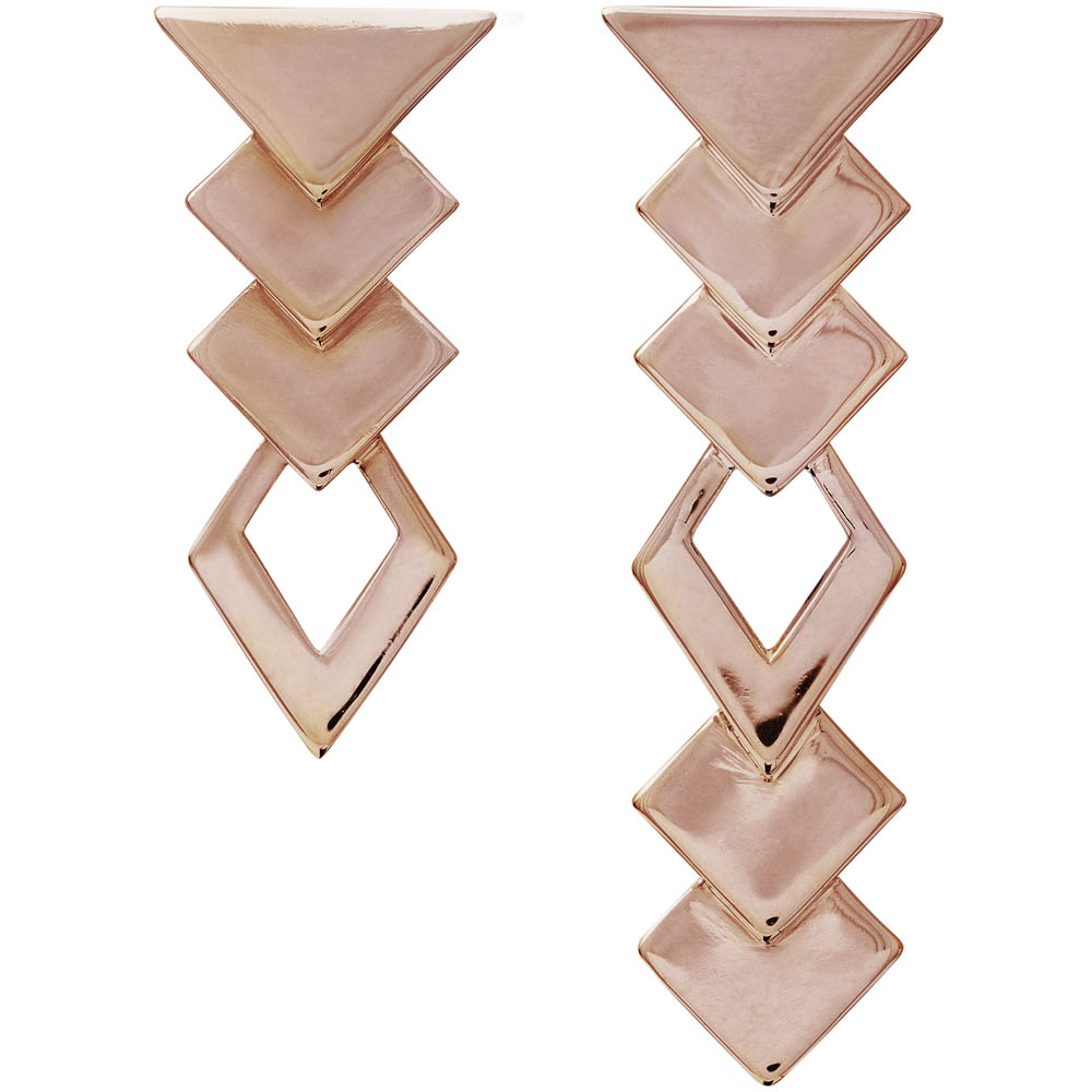 MOTIF collection_Edgy Earrings_Rose Gold 9k_GP402568