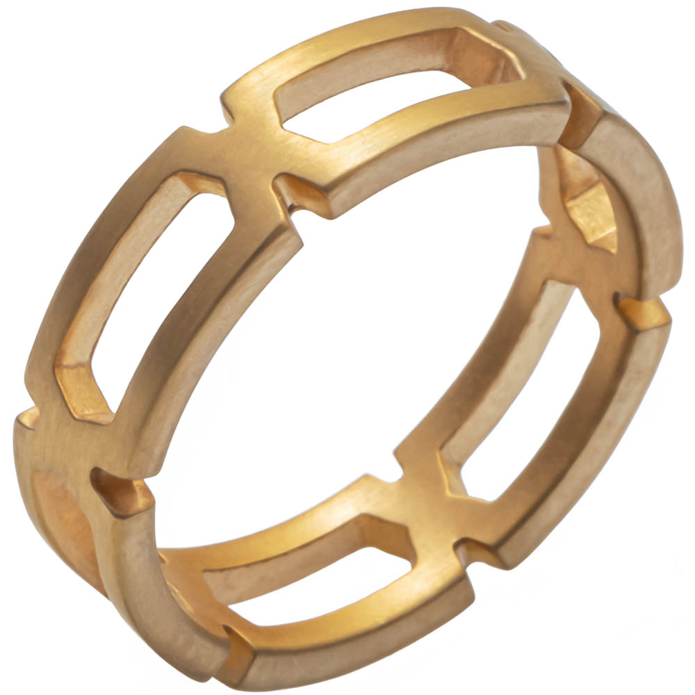 MOTIF collection_Geometrica S Ring_Gold Matte 9k_GP402194