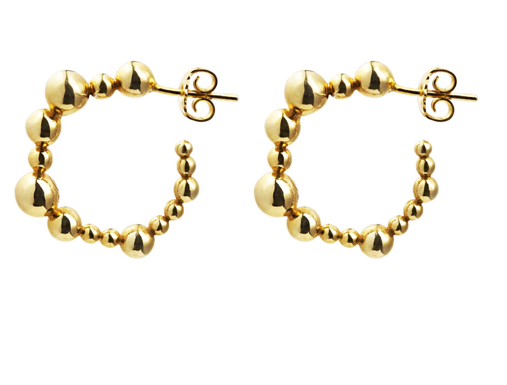 SPHERE collection_DROPLETS Earrings_Gold 9k_GP405052