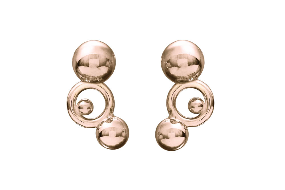 SPHERE collection_RAINDROPS Earrings_Rose Gold 9k_GP402571